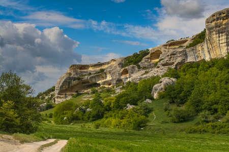 The ancient fortress Eski Kermen near Bakhchisarai village. Crimea, Ukraine. May 2008 Editorial