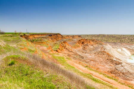 Clay quarry near the town of Pology in the Zaporizhya region. Ukraine. April 2017