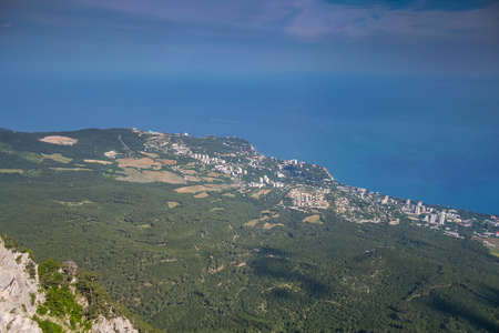The mountain plateau at the top of Ai-Petri. Crimea, Ukraine. May 2008 Фото со стока