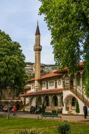 Khan Palace in de stad Bakhchisaray. Krim, Oekraïne. Mei 2009