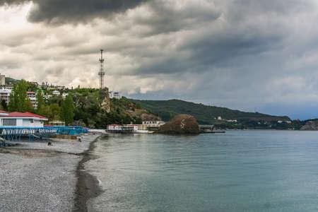 Beach sanatorium Crimea in the village Partenit. Crimea, Ukraine.