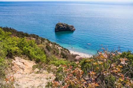 The coast of the Black Sea near Cape Fiolent. Sevastopol, Crimea, Ukraine. May 2009