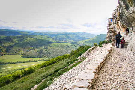 The current Holy Annunciation Monastery is located on the southern slope of Mangup Mountain. Historically, the monastery originated in the 6th century from the Nativity of Christ and later was part of the Orthodox principality of Theodoro. Bakhchisavrai d
