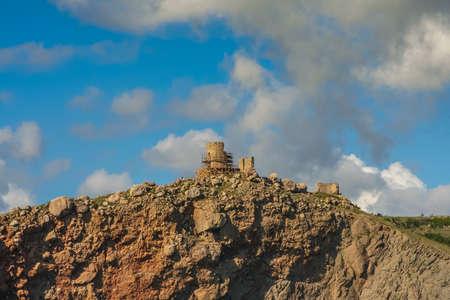 Cembalo is a Genoese, later Ottoman (called Balaklava) fortress. Balaklava, Sevastopol, Except, Ukraine. Stock fotó