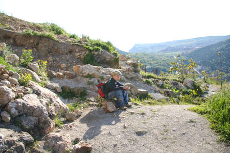 Balaklava bay and the Genoese fortress. Balaklava, Crimea, Ukraine. May 2009 Editorial