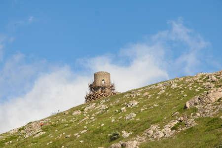 Cembalo is a Genoese, later Ottoman (called Balaklava) fortress. Balaklava, Sevastopol, Except, Ukraine. May 2009 Sajtókép