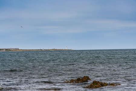 Rocky beach in the vicinity of Abramov Bay. Sevastopol, Crimea, Ukraine. May 2009 Editorial