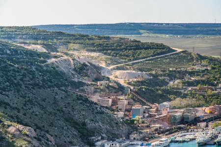 Psylerakhskoye limestone deposit near the city of Balaklava. Crimea, Ukraine. May, 2009