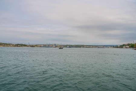 Tug in the ships bay of Sevastopol. Crimea, Ukraine. May 2009