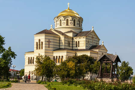 Vladimir Cathedral in the ancient city of Chersonese (Korsun) in the National Reserve