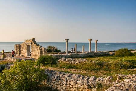 National reserve Chersonese Taurian (the ancient city of Chersonese (Korsun)) in the city of Sevastopol. Crimea, Ukraine. May 2009