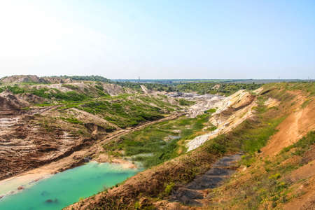 Clay quarry near the town of Polohy. Zaporozhye region, Ukraine. June 2009