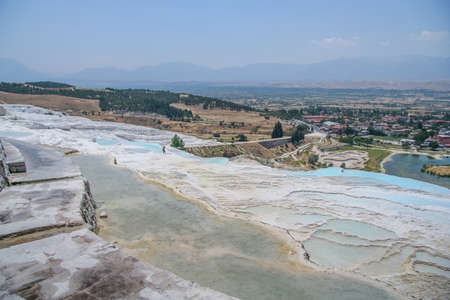 Ancient city Ancient city of Hierapolis near the town of Pamukkale in the province of Denizli in the south-west of Turkey. Turkey. July 2009