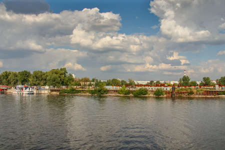 The island of Khortitsa in the middle of the Dnieper River in the city of Zaporozhye. September 2009