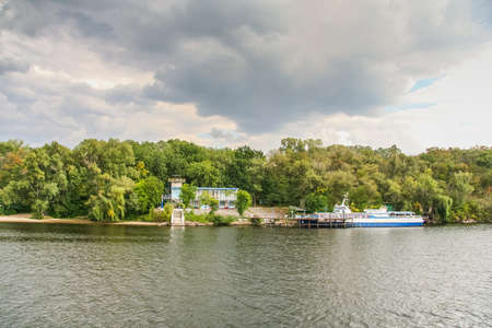 The island of Khortitsa in the middle of the Dnieper River in the city of Zaporozhye.