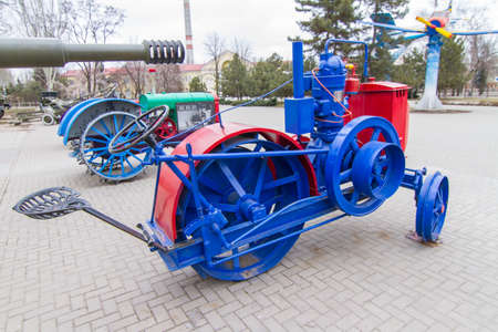 Zaporozhets is the first Soviet tractor produced by the Kitskassk oil engine plant (Zaporizhia) at t the city of Zaporozhye. Ukraine.