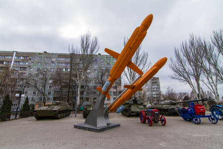 "X-55 (""product 120"", RKV-500, according to NATO codification - AS-15 Kent) - Soviet strategic aviation cruise missile at the Boguslayev Technique Museum in Zaporozhye. Ukraine. February 2019"