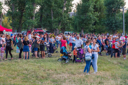 The holiday of Ivan Kupala in the park of rest of the city Polohy. Zaporozhye region, Ukraine. July 2019