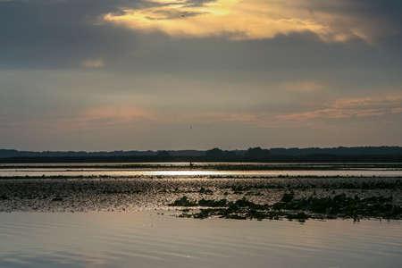 Kushugumskie melt on the Dnipro river. Zaporozhye region, Ukraine. September 2012