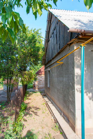 life of rural slums. Zaporozhye region, Ukraine. June 2012 Stock Photo - 128767861
