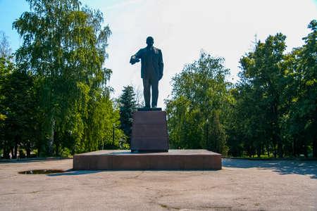 Monument to the Soviet idol - Lenin, in the village of Nova Vodolaga. Kharkov region, Ukraine. June 2012