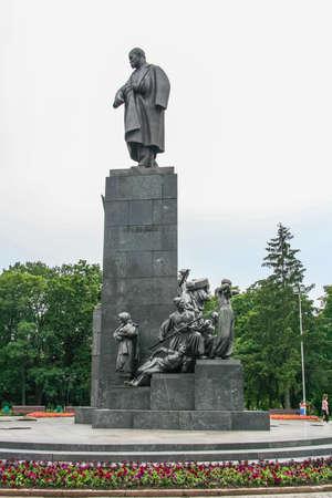 Monument to Taras Shevchenko - Ukrainian poet. Kharkov, Ukraine. June 2012 Editöryel