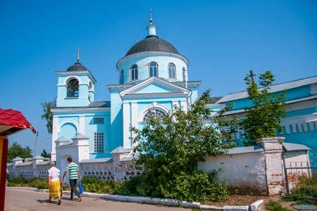 Holy Transfiguration Church in the village of New Vodolaga, built in 1831 with the money of parishioners. Kharkov region, Ukraine.