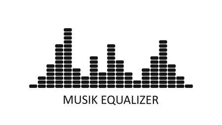 Vector music equalizer icon. Audio waves background. Sound waves. Audio Player. Vector illustration.