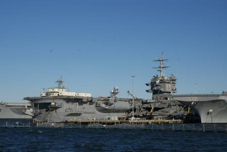 USS 엔터프라이즈, 해군 기지, 노퍽