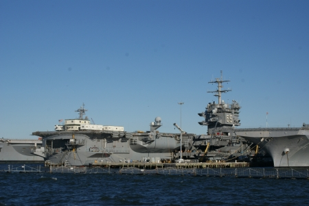 USS Enterprise, Naval Base, Norfolk Stock Photo - 17326275