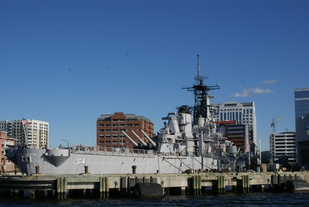 USS Wisconsin at the Nauticus Museum, Norfolk Editorial
