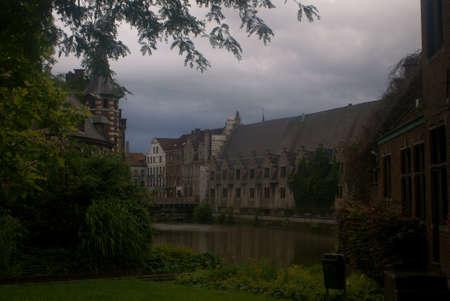 Rivière à Gand Banque d'images - 17432457