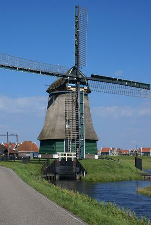 the netherlands: Windmill in the area of Landsmeer, Netherlands Stock Photo