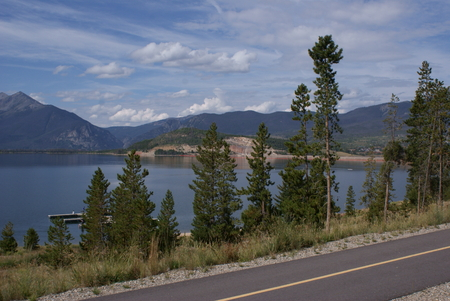 lake dillon: Scenic view of the mountains and the lake, Dillon Reservoir, Colorado