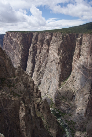 Painted Wall  at the Black Canyon Of The Gunnison National Park in Colorado, USA