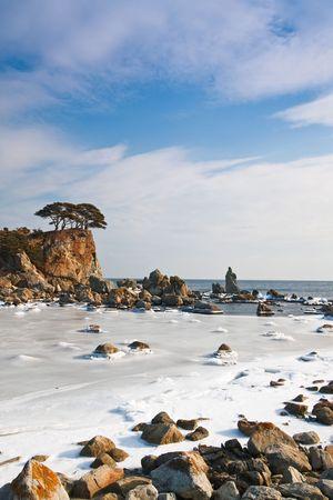 wonderful island in the winter Stock Photo