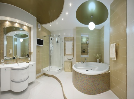 bathroom interior: beautiful modern apartment interior Stock Photo