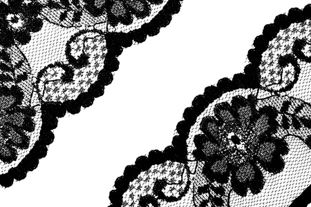 beautiful lace in floral style Stock Photo