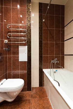 Modern simple bathroom Stock Photo