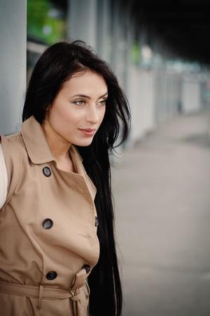 girl standing on the platform photo