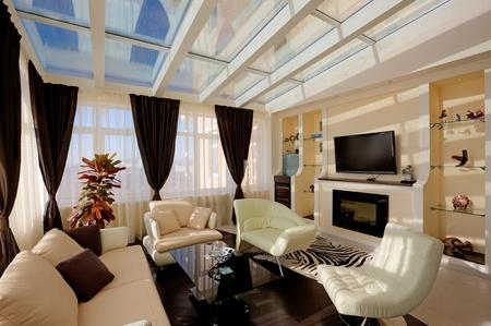 Wohnzimmer Kamin Modernes Appartement Mit Kochnische