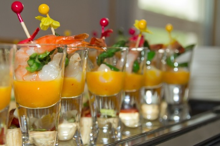 catering service: a variety of delicious canapés