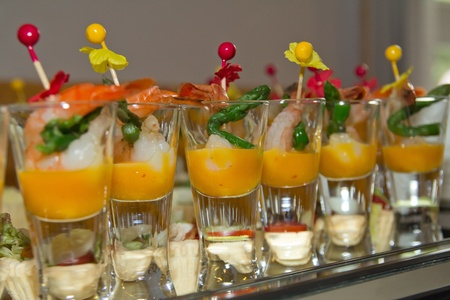 a variety of delicious canapés