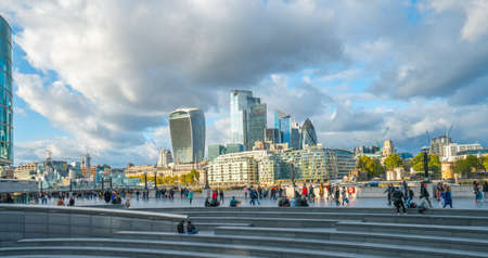 London - October 2019: view of the skyscrapers of City of London Editorial