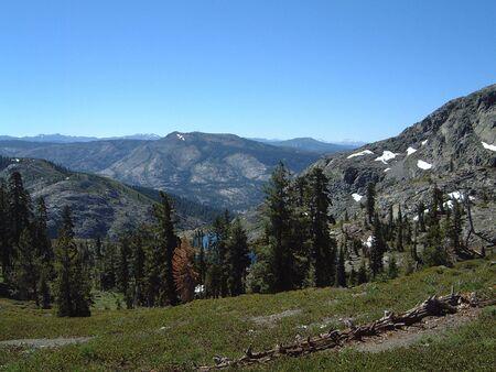 Sierra mountain lake view photo