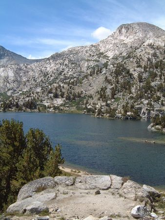 High Sierra alpine lake