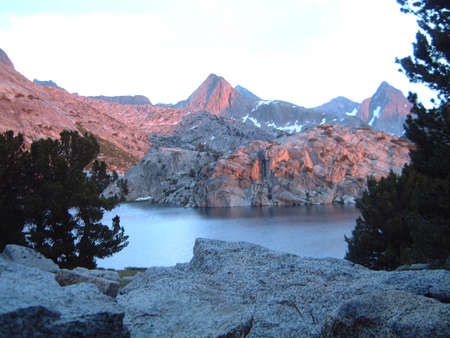 high sierra: High sierra lake at sunset