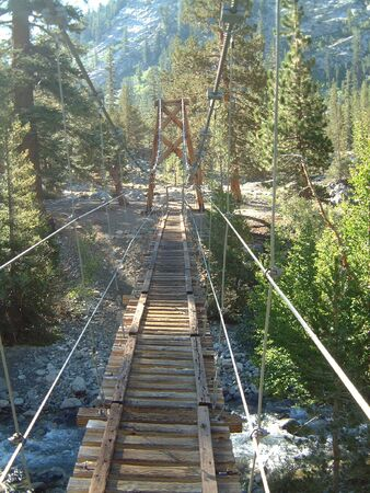 bridge on the Pacific Crest trail photo