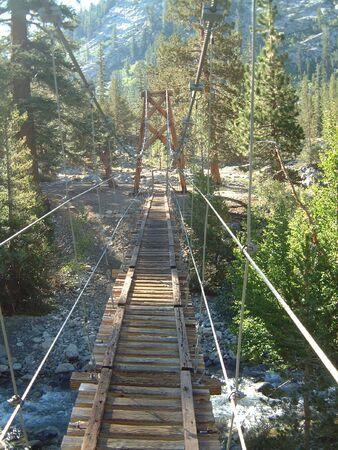 pacific crest trail: bridge on the Pacific Crest trail