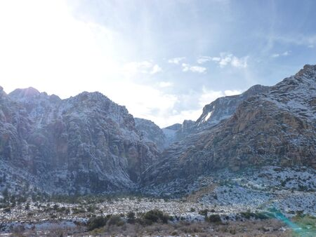 Snow covered mountains by Las Vegas Banco de Imagens